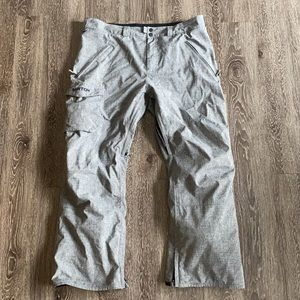 Men's Gray Burton Snowpants